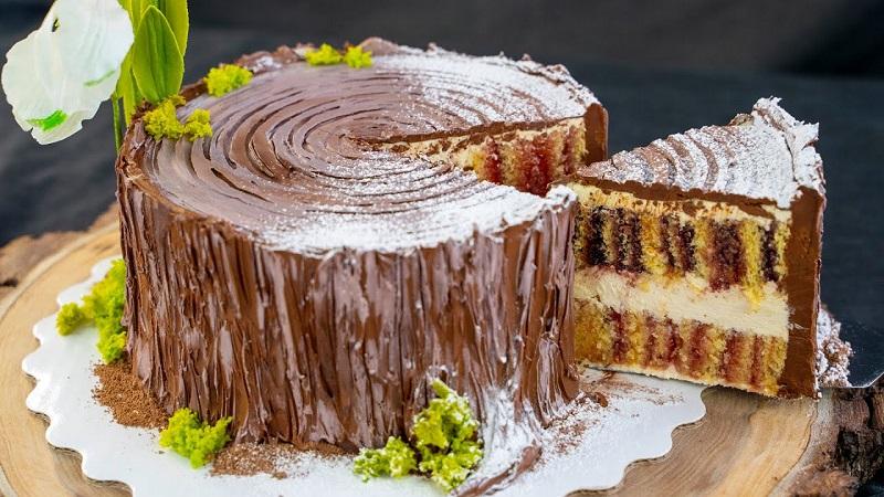 Сладкое угощенье для праздничного стола (и не только): торт трухлявый пень с вареньем